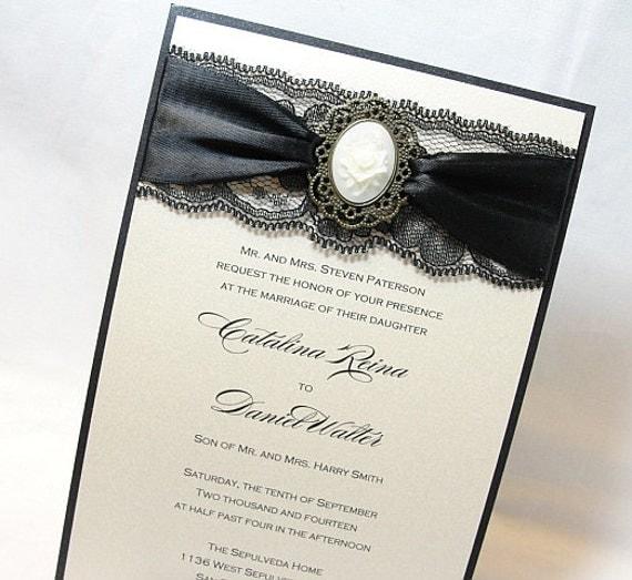 Lace Wedding Invite Invitation