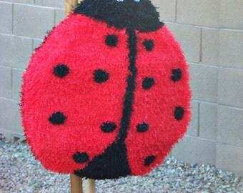 Ladybug Pinata, Little Lady, Pink Ladybug, Polka dots party