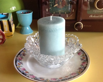 Antique Crystal Bowl and China