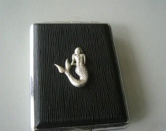silver mermaid cigarette hard case