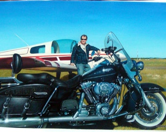 Car and motorcycle painting from photo, 24x36 inches. 100% money-back guarantee