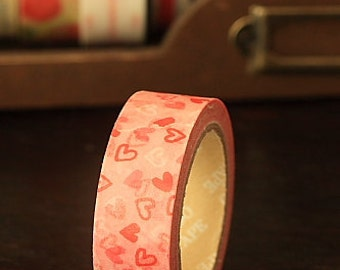 Tape-Washi Tape-Masking Tape-Single Roll-Flowers-Green Lace-Hearts-Heart Tape