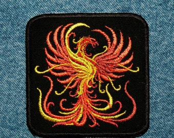 Firey Phoenix Iron on Patch-  4""
