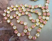 Swarovski Rhinestone Light Rose and Crystal 4mm Chain (1) foot
