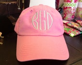 Ladies Monogrammed Baseball Cap - The Palm Gifts