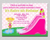 Waterslide Birthday Party Invitation Waterslide Birthday Invitation Printable