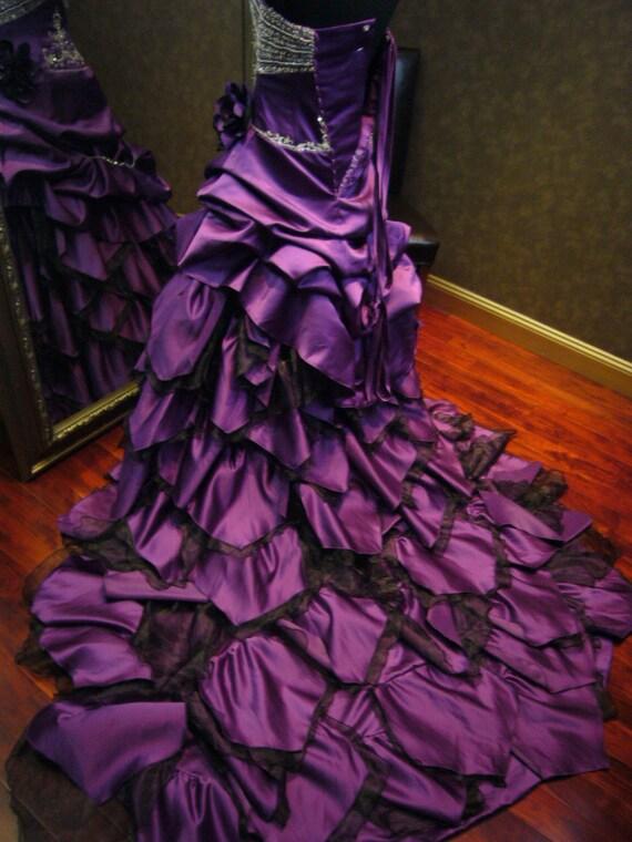 Royal Purple Wedding Dress Alternative By Weddingdressfantasy