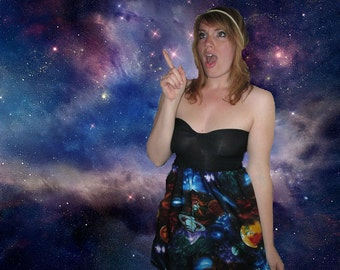 Galaxy Nebula  Babydoll Sweetheart Dress