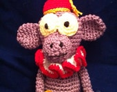 Crochet Circus Monkey Plush Toy