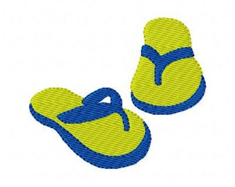 Flip Flops // Machine Embroidery Design, Summer Embroidery Designs // Joyful Stitches