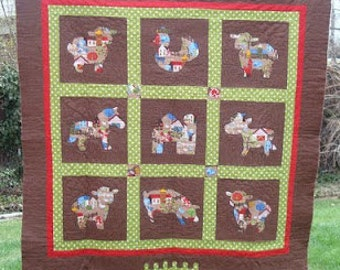Horse Quilt Pattern On Etsy A Global Handmade And Vintage