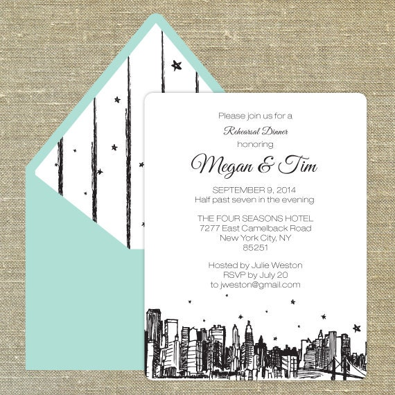 Bridal Shower Invitations Bridal Shower Invitations New York Skyline