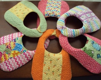 Quilted Easter Bibs