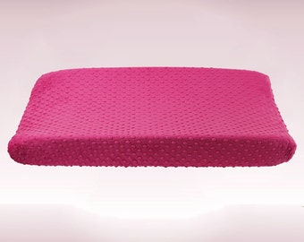 Fuchsia - Hot Pink Minky Changing Pad Cover