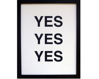 SALE SALE SALE yes yes yes screenprinted poster - black