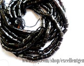 "Full strand Nature black  sponge coral beads in heishe shape-16"""