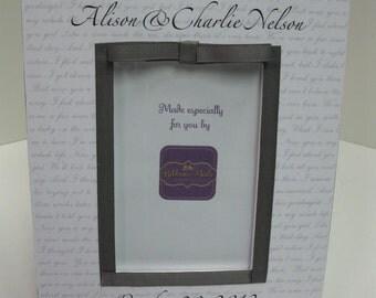 Vertical Wedding Song Frame