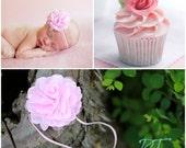 Baby Pink Pouff headband