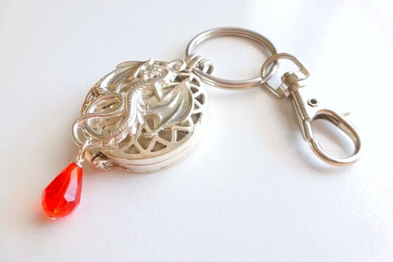 dragons blood keychain purse clip keyring cage by