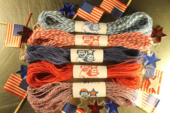 Patriotic Twine Red White and Blue 15 yards