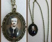 Edgar Allan Poe Inspired Bronze Cameo Necklace