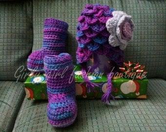 PDF Crochet Pattern Plane jane booties 0-12 months