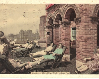 Vintage Postcards - The Senator Hotel - Atlantic City NJ