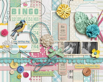 A Spring Day (kit) - Digital Scrapbooking INSTANT DOWNLOAD