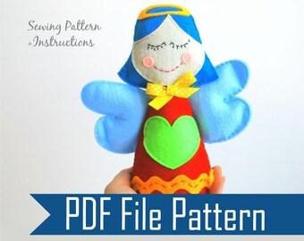 Little angel Sewing pattern - PDF ePATTERN, Kids craft Project  Instant Download  A808