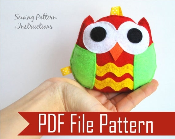 Felt Animal Ornament Patterns Felt Owl Pattern Ornament