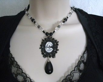 Gothic Necklace, gothic jewelry victorian jewelry edwardian jewelry renaissance jewelry art deco art nouveau neo victorian goth necklace