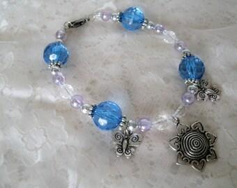 Blue Butterfly Bracelet, boho jewelry bohemian jewelry victorian jewelry gypsy jewelry hippie pin up nature boho chic bracelet