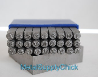 3 mm Dotz Font Uppercase- Alphabet Stamps -Metal Alphabet Set for Metal Stamping-Lucy Style
