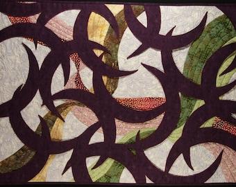 Handmade Art Quilt - Crescent Window