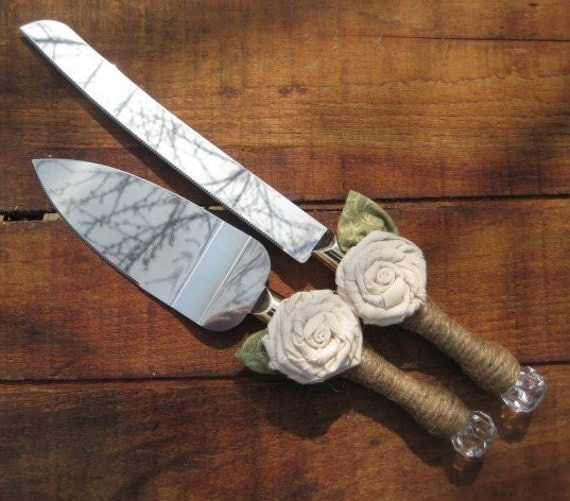 RUSTIC WEDDING Cake Knife Cake Server Set Cake Knife And Server Cake