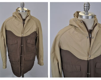 vintage mountain parka coat 60/40 jacket medium TWO TONE