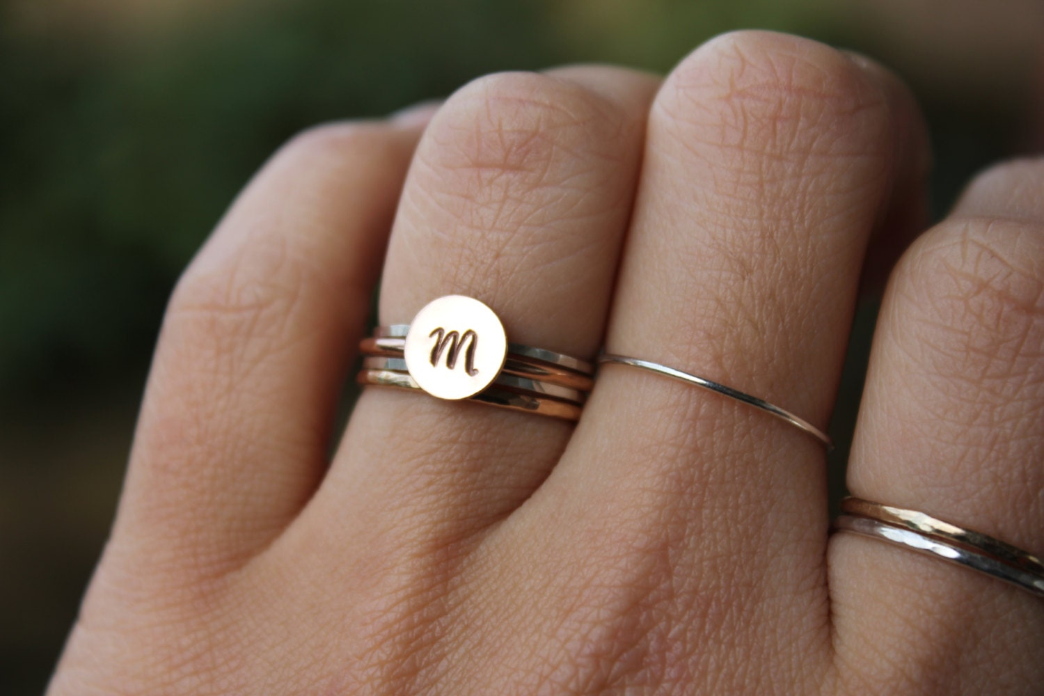 Rose gold initial rings rose gold letter rings pink rose for Gold ring models with letters