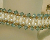 PATTERN Flat Spiral bracelet with CzechMate Bricks or SuperDuo beads bead weaving