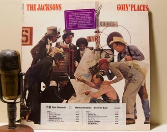"ON SALE Michael Jackson Vinyl Record Album The Jacksons 1970s Soul Pop R&B ""Goin' Places""(Rare Demo copy 1977 Cbs)"