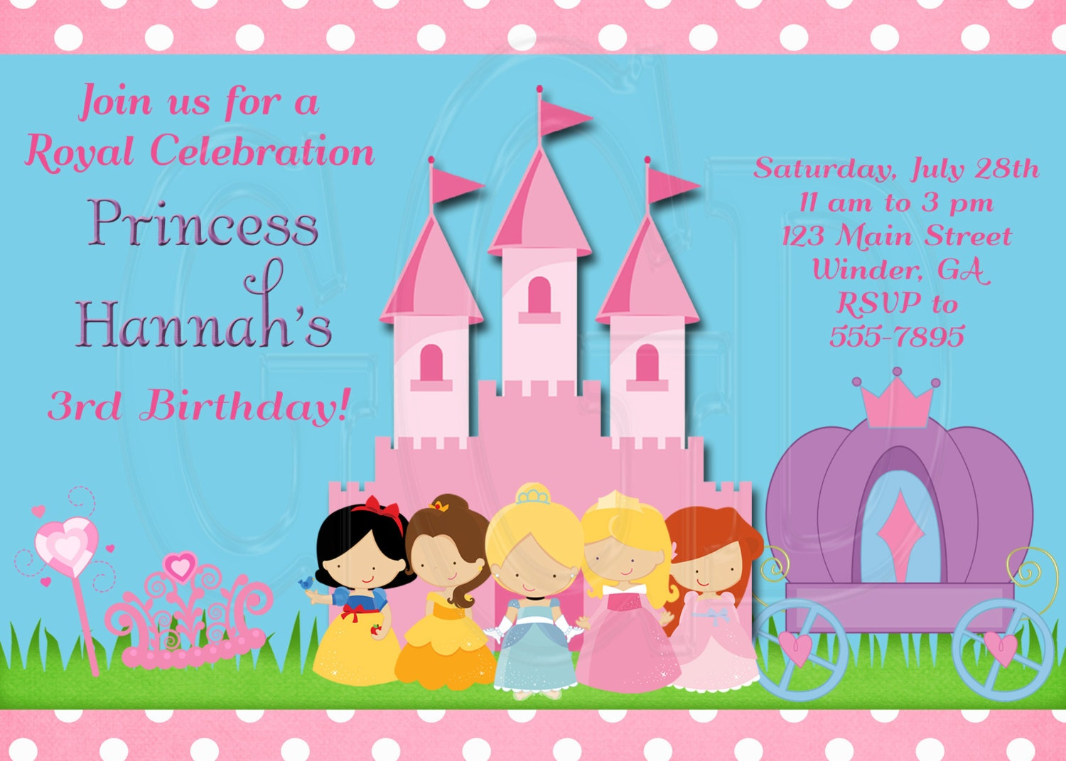 princess birthday invitation disney inspired digital file princess birthday invitation disney inspired digital file 128270zoom