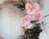 ShaBBy Chic ViCtorian Free SPiRiT OOAK Wedding Natures Wild Beauty PeACoCK Wreath