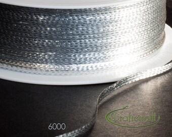 Soutache trim - thin 3mm soutache braid - silver (6000XFPA) - 5 meters