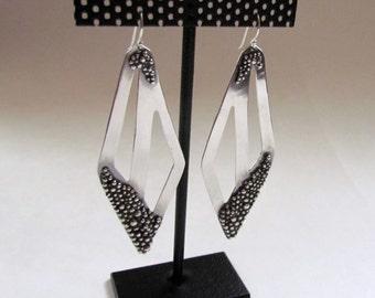 Sterling Silver Pane Chandelier Earrings