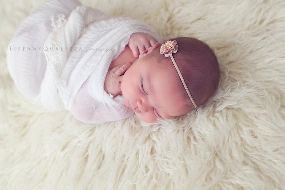 Mini Pastel Pink  Lavender Flower Headband