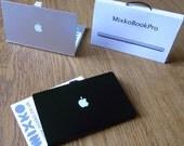 Mini laptop business card case