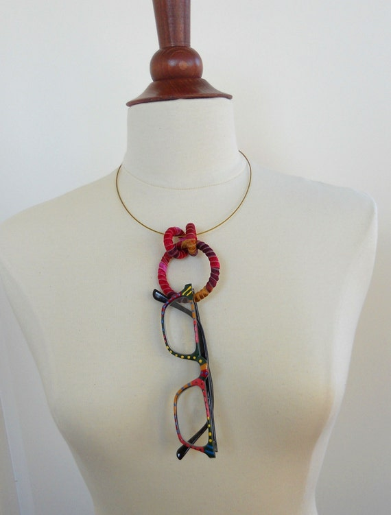 Eyeglass Holder Necklace Silk