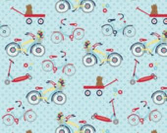 Riley Blake Dress Up Days Blue Bikes Fabric 1 yard