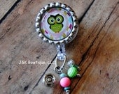 Owl Badge Retractable Reel