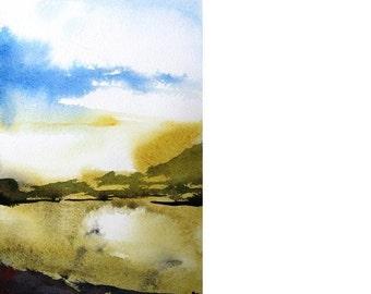 Llano - Original Watercolor Painting