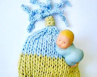 Baby Newborn Hat Newborn boy hat Photo Prop Handmade boy hat Kids fashion Knitting Crochet Infants Newborn Photo prop Spring